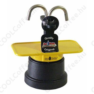 Top Moka Mini 2 szészés kotyogós kávéfőző fekete víztartállyal