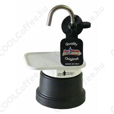 Top Moka Mini 1 szészés kotyogós kávéfőző fekete víztartállyal